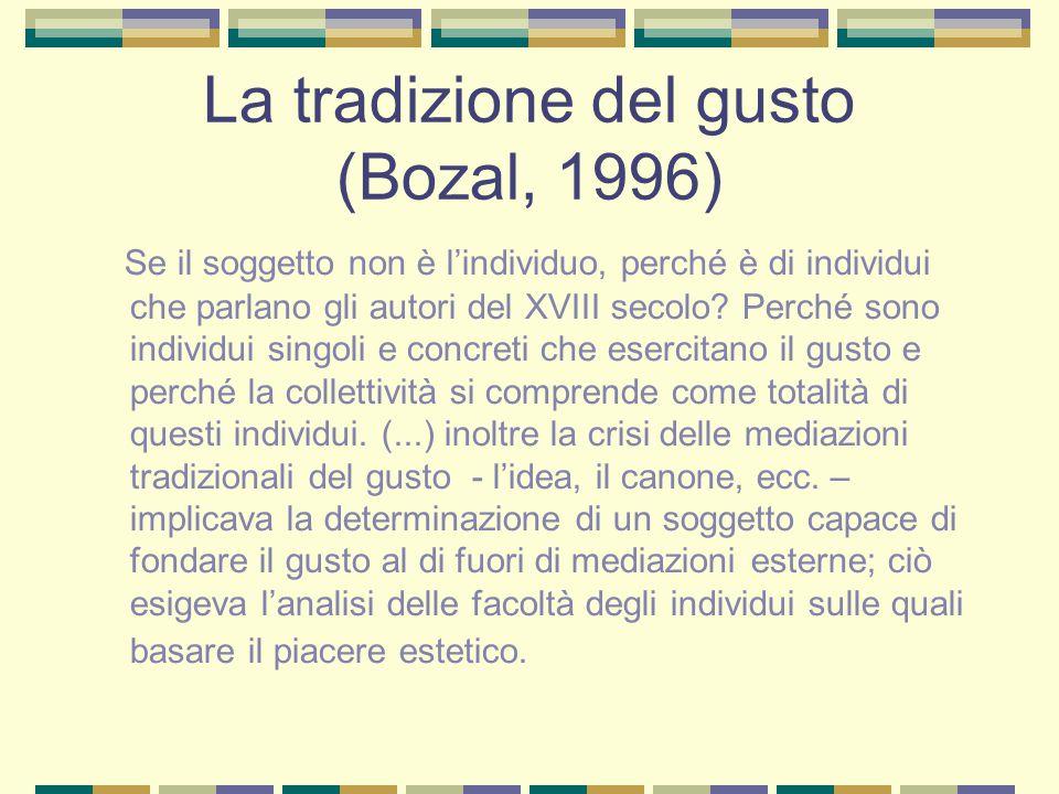 La tradizione del gusto (Bozal, 1996)