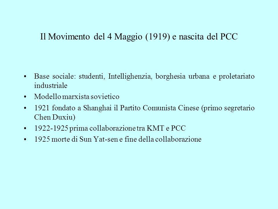 Il Movimento del 4 Maggio (1919) e nascita del PCC