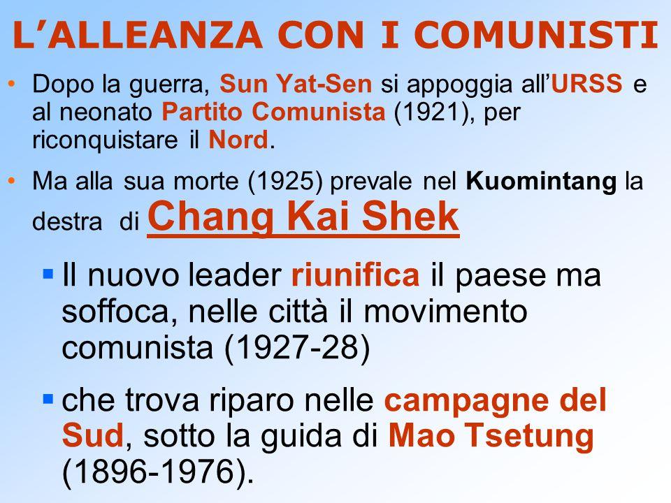 L'ALLEANZA CON I COMUNISTI