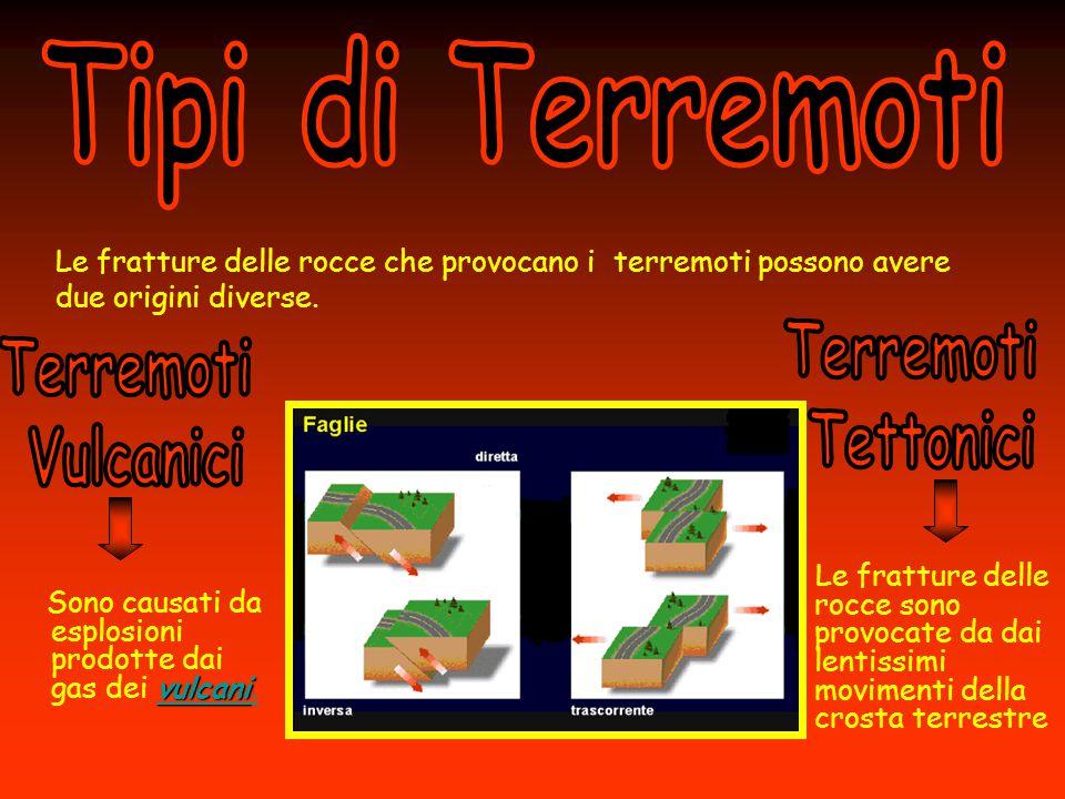 Tipi di Terremoti Terremoti Tettonici Terremoti Vulcanici