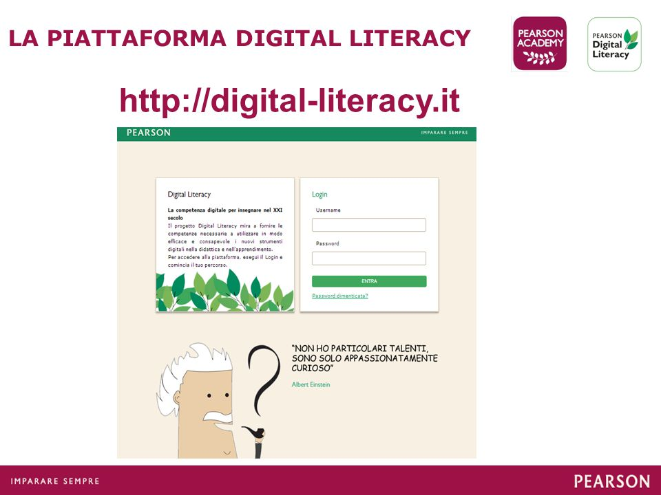 LA PIATTAFORMA DIGITAL LITERACY