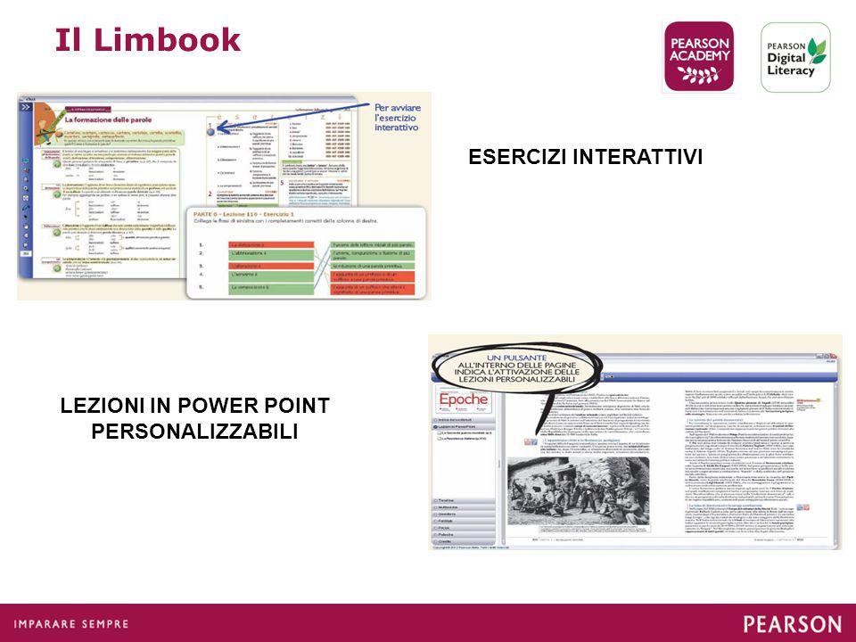 Il Limbook ESERCIZI INTERATTIVI LEZIONI IN POWER POINT