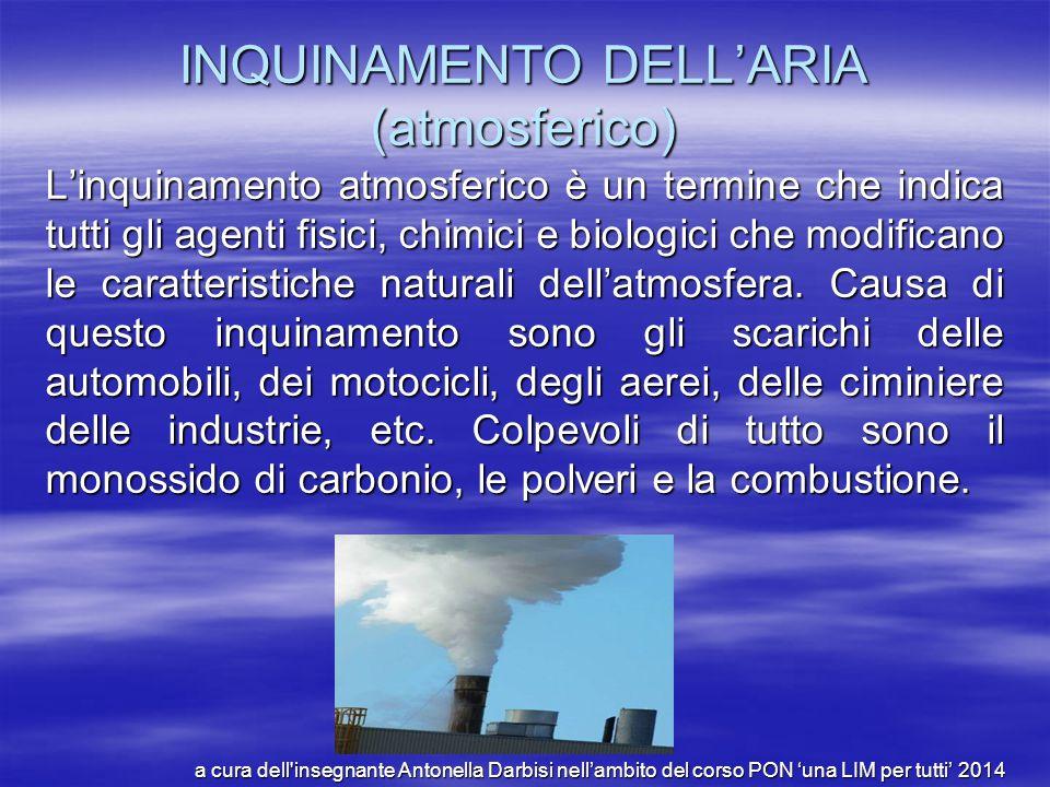INQUINAMENTO DELL'ARIA (atmosferico)