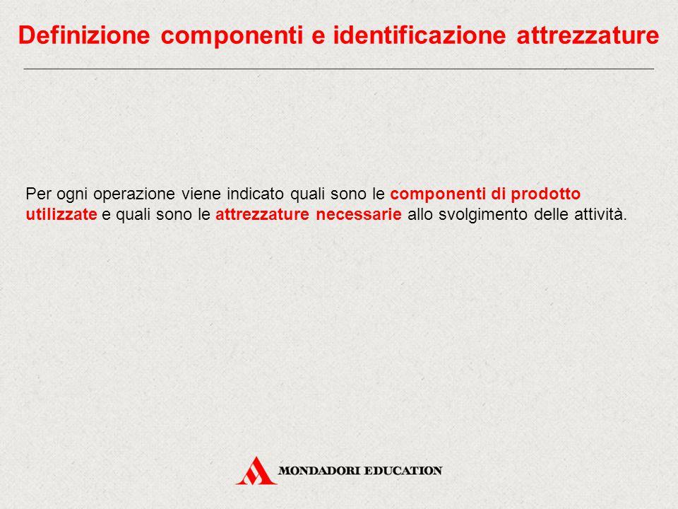 Definizione componenti e identificazione attrezzature