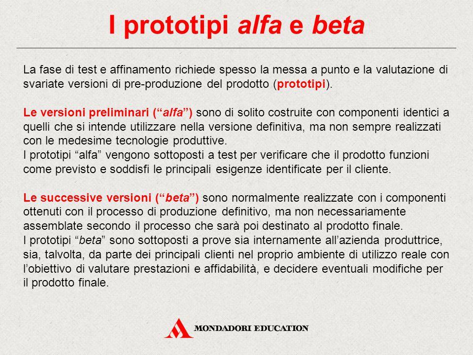 I prototipi alfa e beta