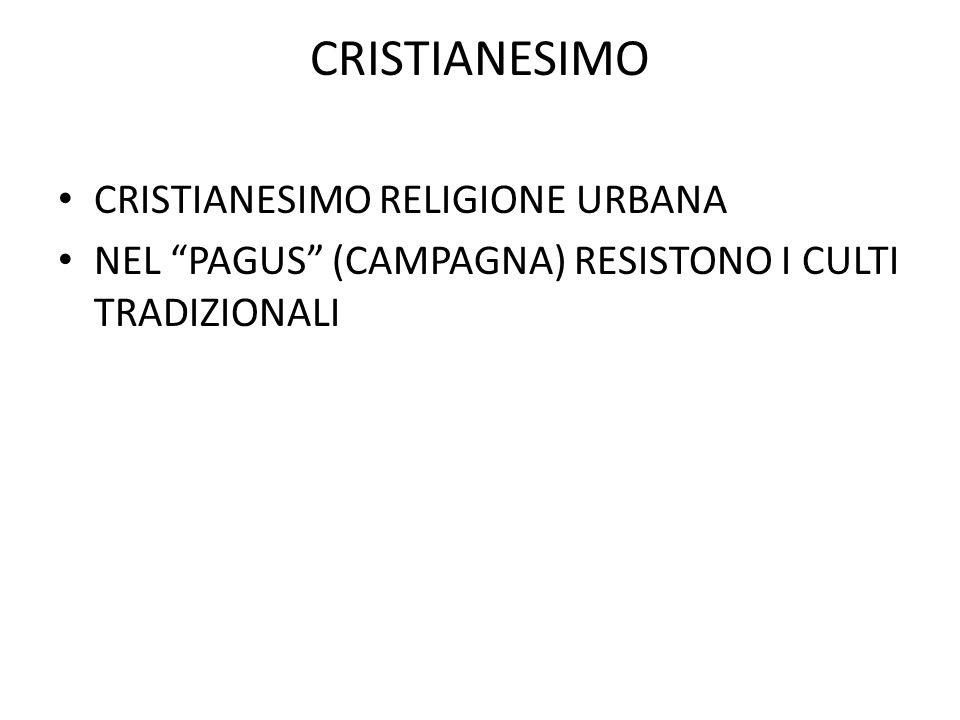 CRISTIANESIMO CRISTIANESIMO RELIGIONE URBANA