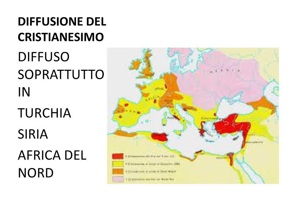 DIFFUSIONE DEL CRISTIANESIMO