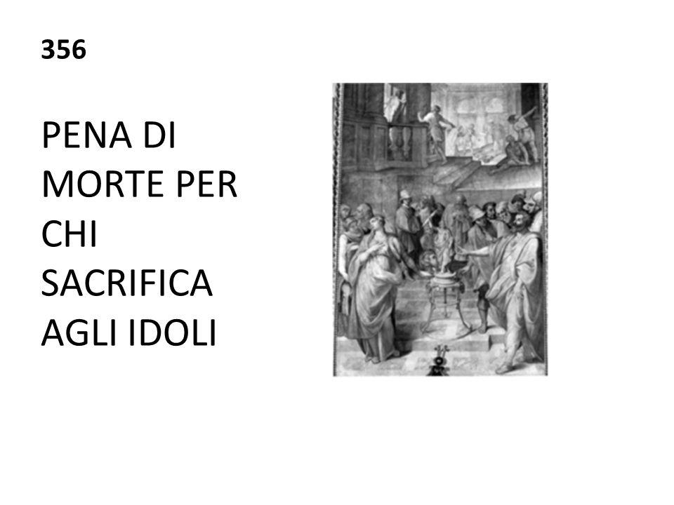 PENA DI MORTE PER CHI SACRIFICA AGLI IDOLI