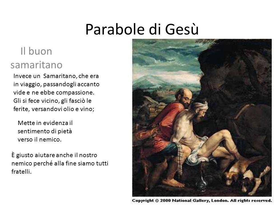 Parabole di Gesù Il buon samaritano