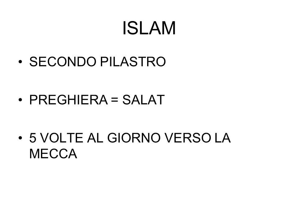 ISLAM SECONDO PILASTRO PREGHIERA = SALAT