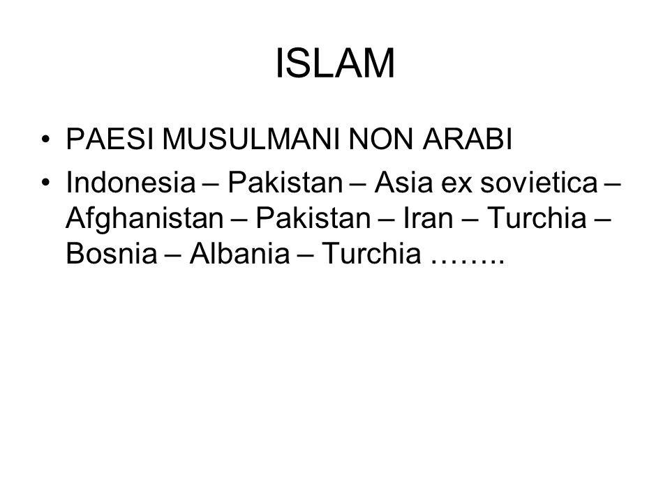 ISLAM PAESI MUSULMANI NON ARABI