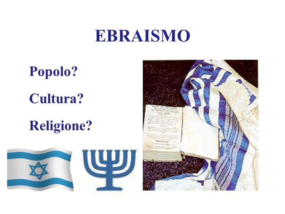 EBRAISMO Popolo Cultura Religione