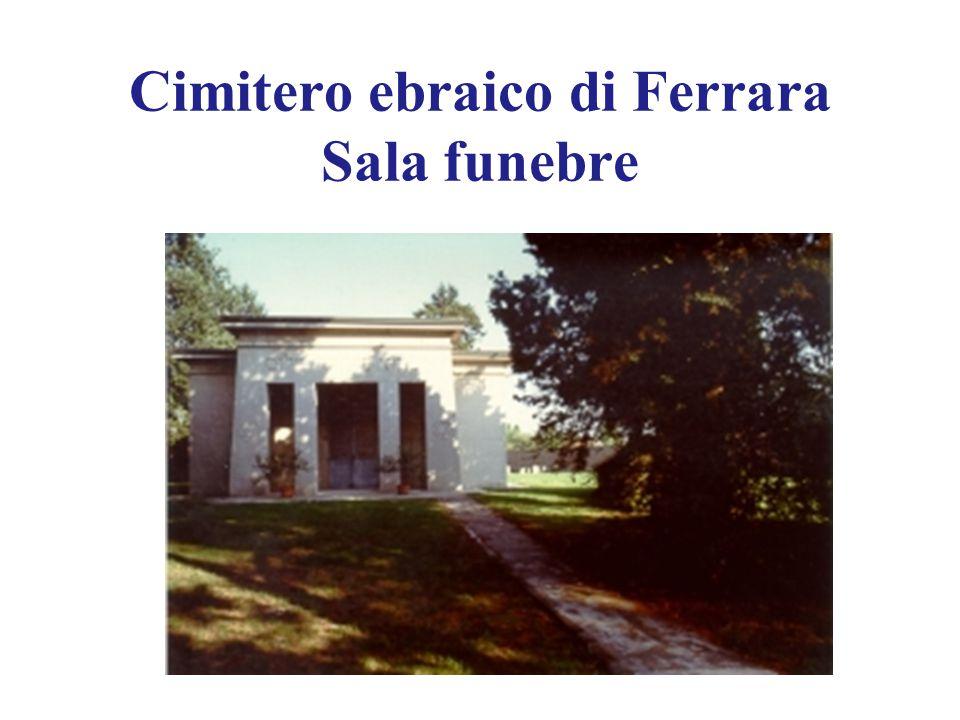 Cimitero ebraico di Ferrara Sala funebre