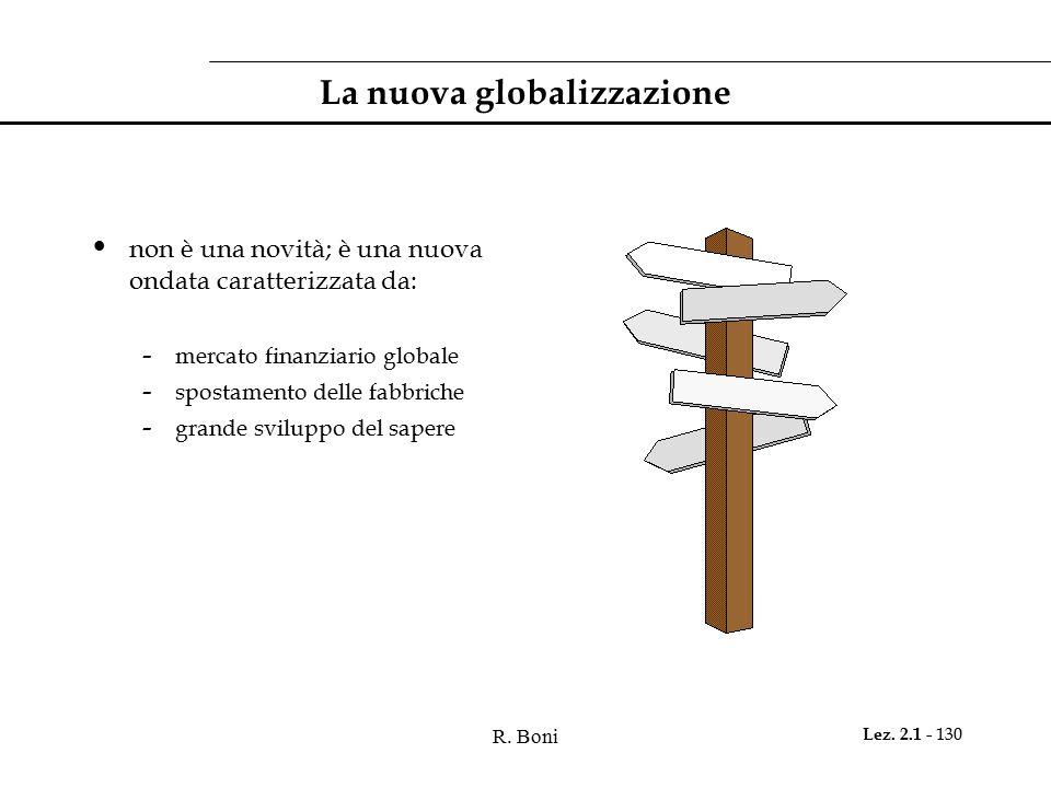 La nuova globalizzazione