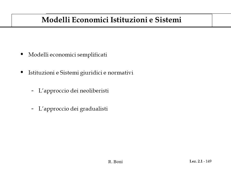 Modelli Economici Istituzioni e Sistemi