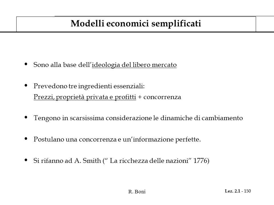 Modelli economici semplificati