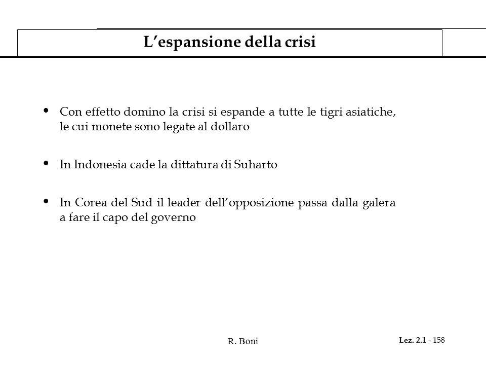 L'espansione della crisi