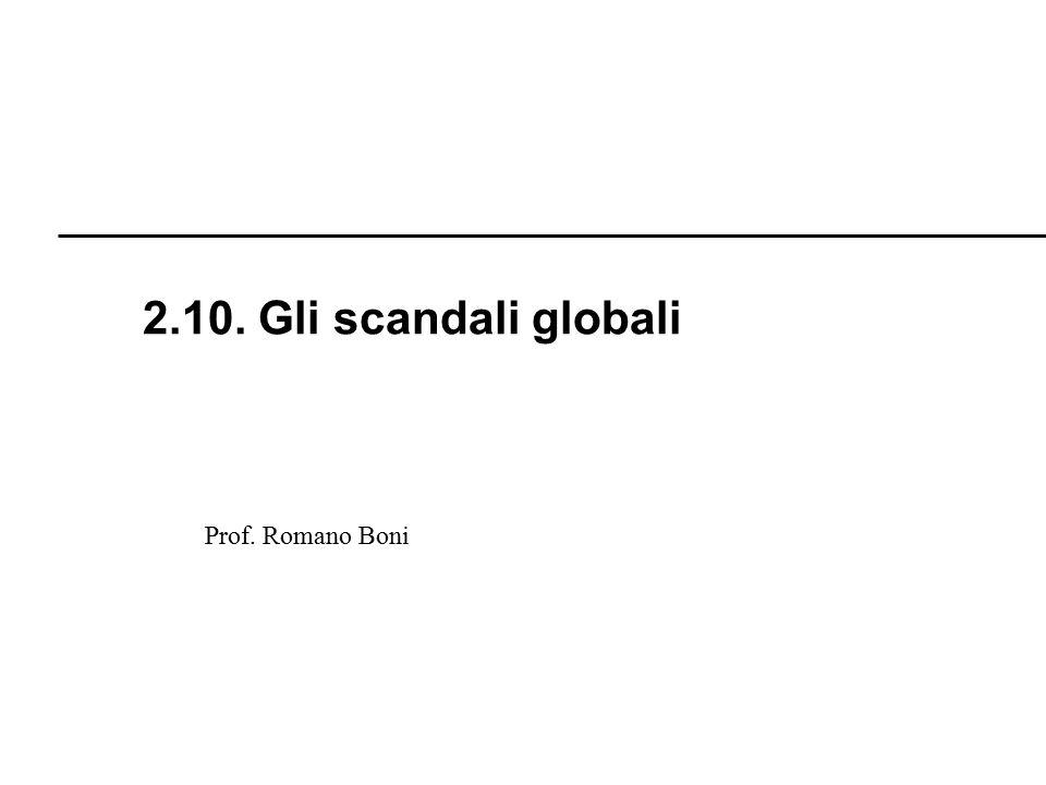 2.10. Gli scandali globali Prof. Romano Boni R. Boni