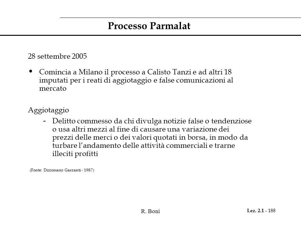 Processo Parmalat 28 settembre 2005