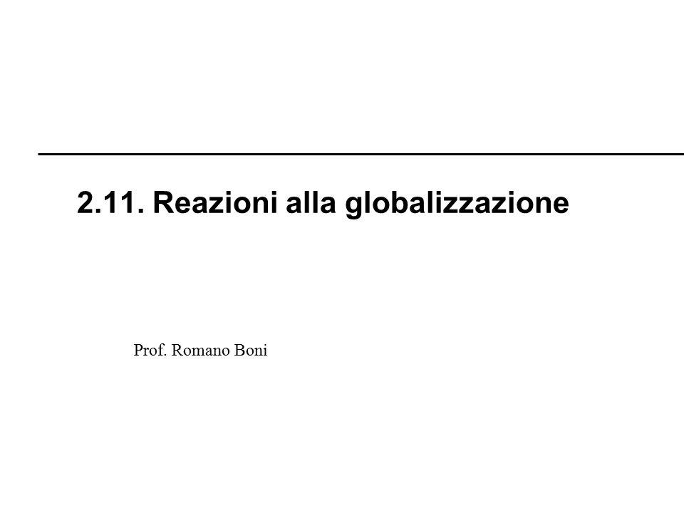 2.11. Reazioni alla globalizzazione