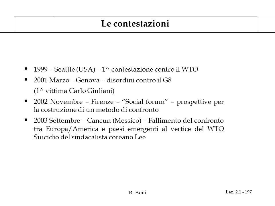Le contestazioni 1999 – Seattle (USA) – 1^ contestazione contro il WTO