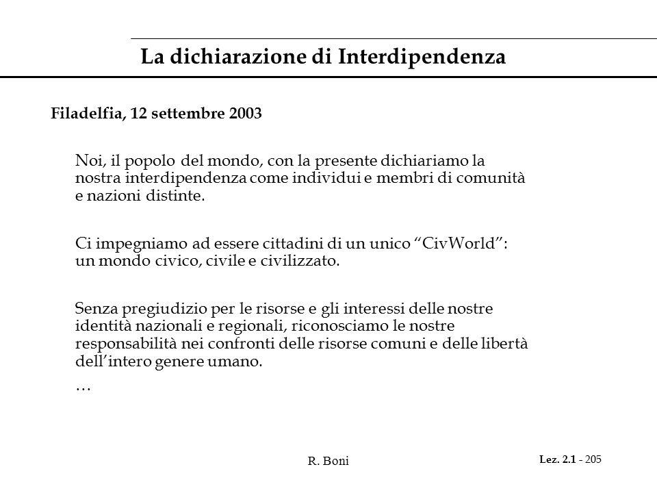 La dichiarazione di Interdipendenza