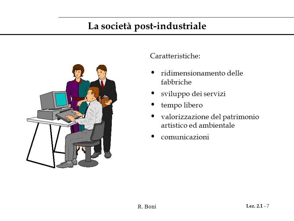 La società post-industriale
