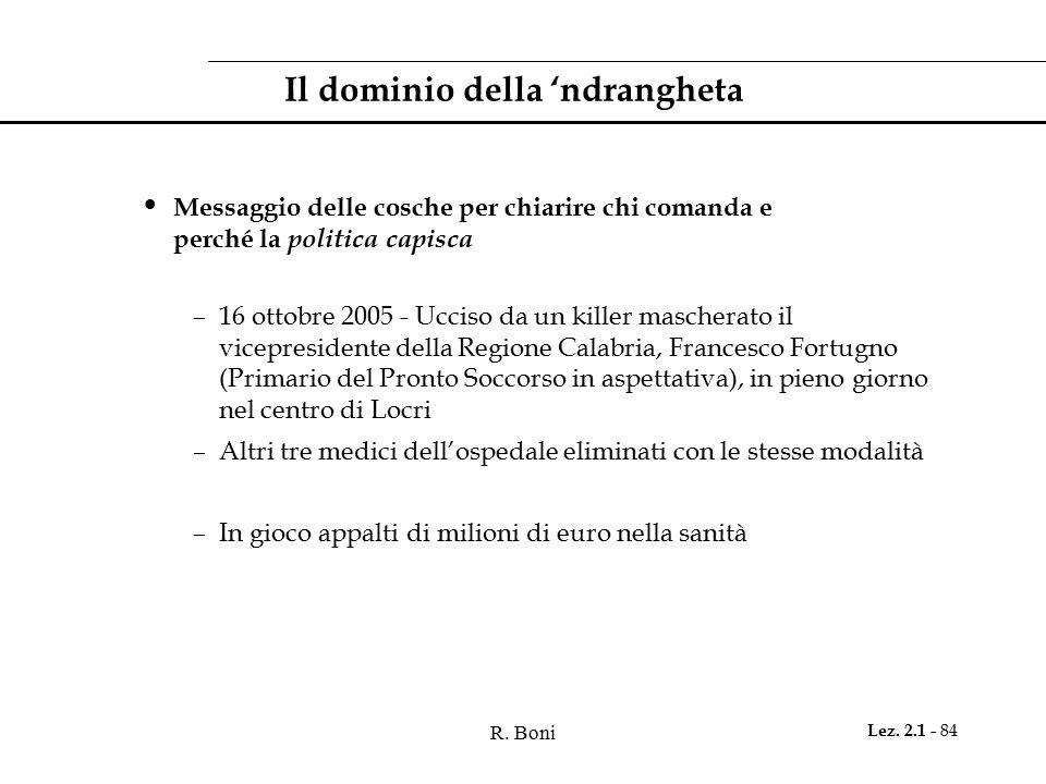 Il dominio della 'ndrangheta