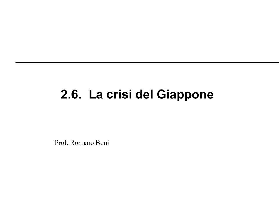 2.6. La crisi del Giappone Prof. Romano Boni R. Boni