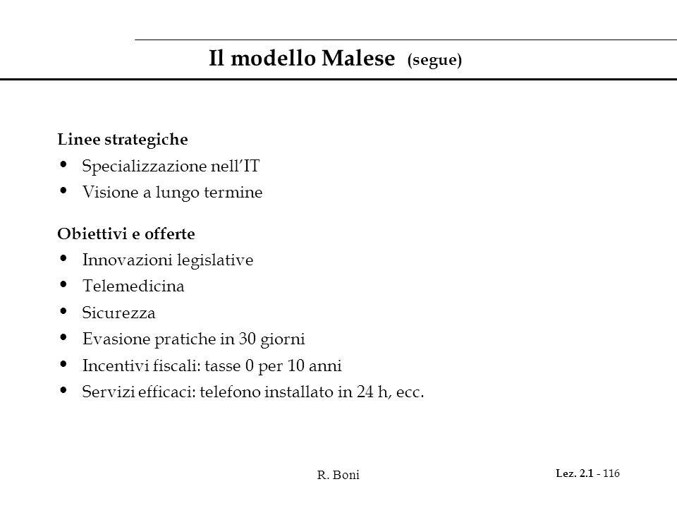 Il modello Malese (segue)