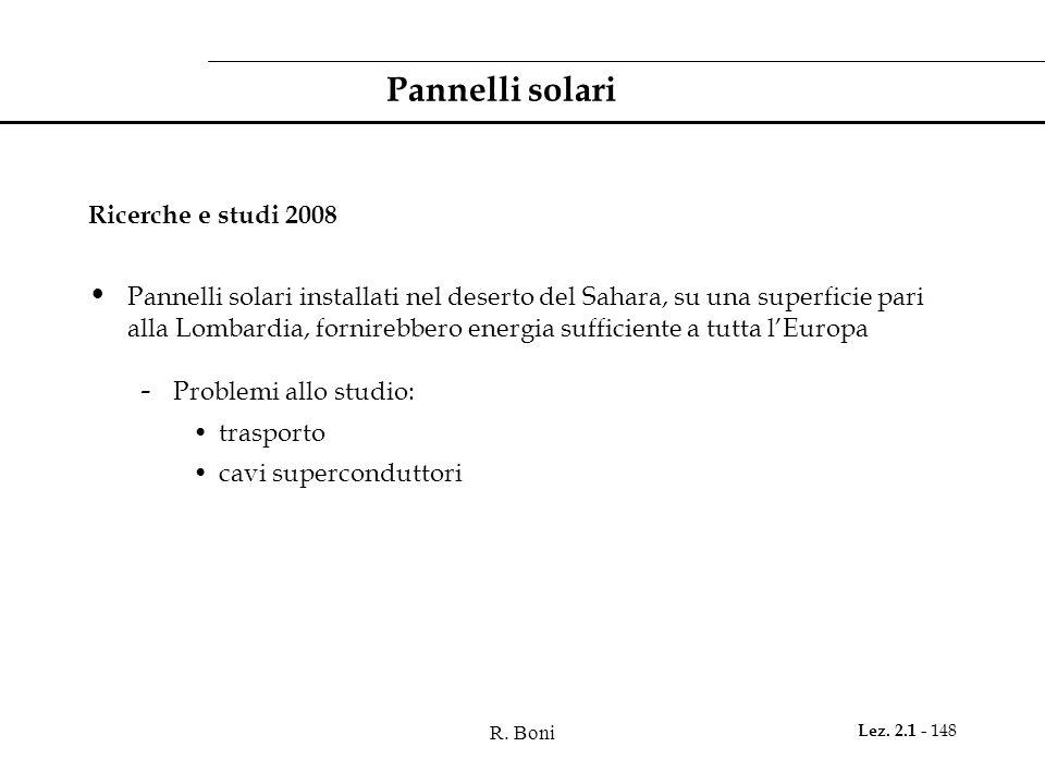 Pannelli solari Ricerche e studi 2008