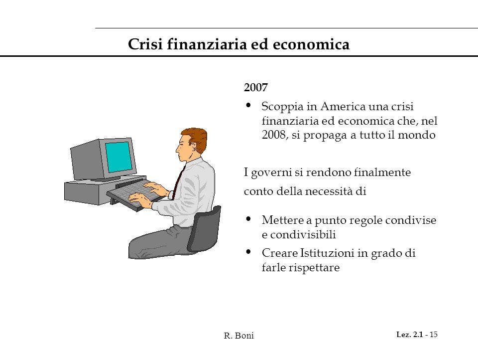Crisi finanziaria ed economica