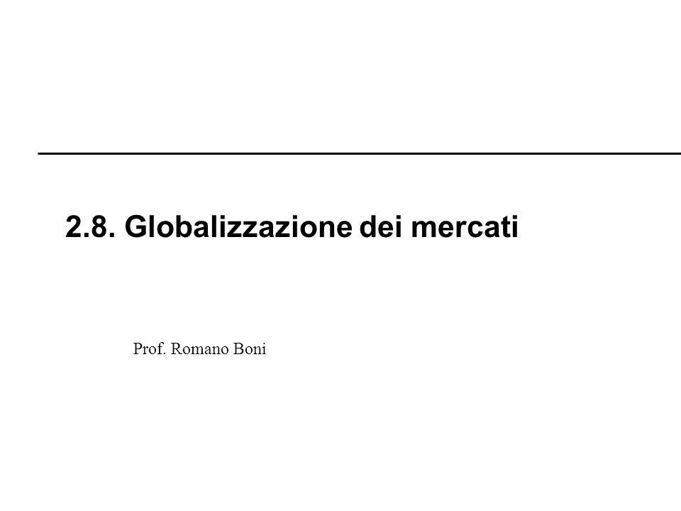2.8. Globalizzazione dei mercati