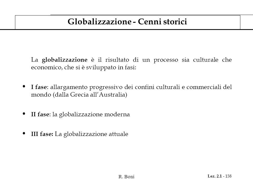 Globalizzazione - Cenni storici