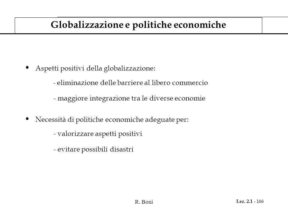 Globalizzazione e politiche economiche