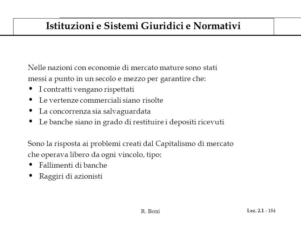 Istituzioni e Sistemi Giuridici e Normativi