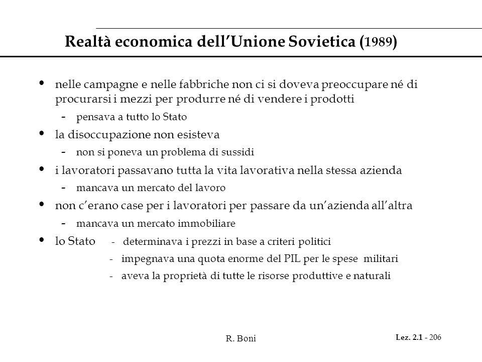 Realtà economica dell'Unione Sovietica (1989)