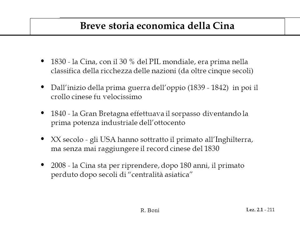 Breve storia economica della Cina