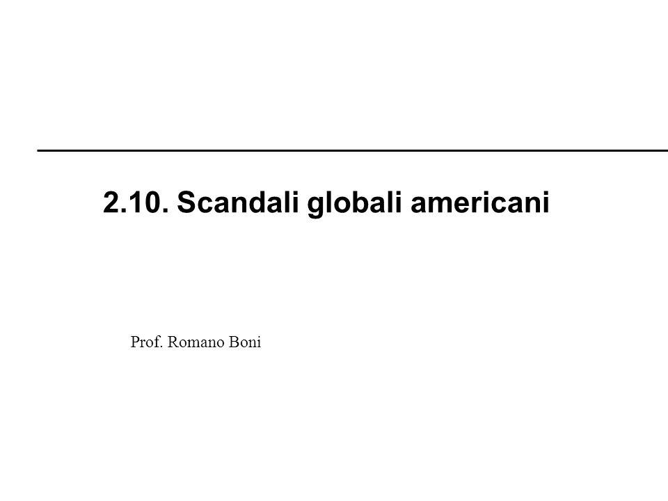 2.10. Scandali globali americani