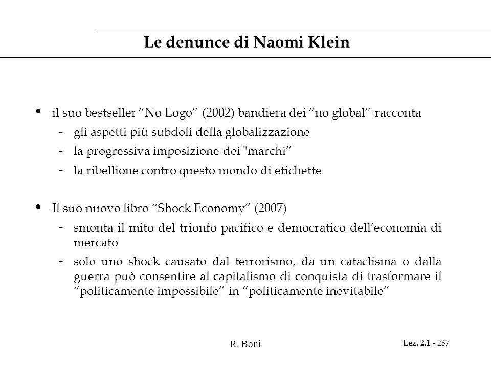 Le denunce di Naomi Klein