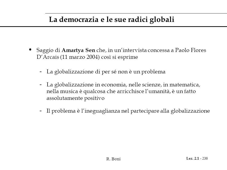 La democrazia e le sue radici globali