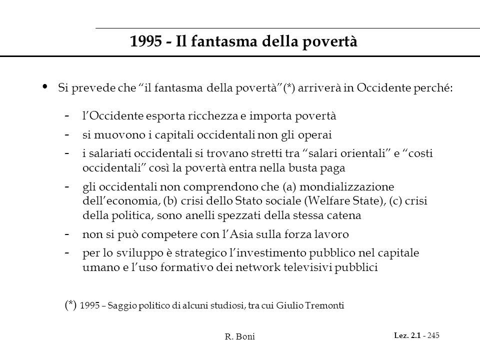 1995 - Il fantasma della povertà