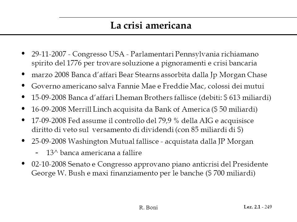 La crisi americana