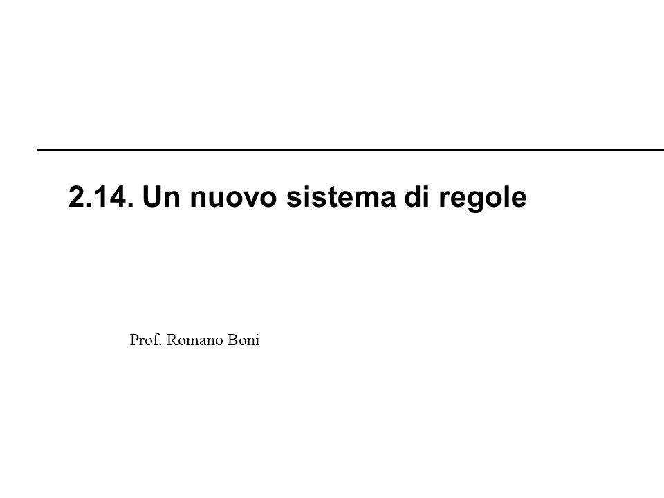 2.14. Un nuovo sistema di regole