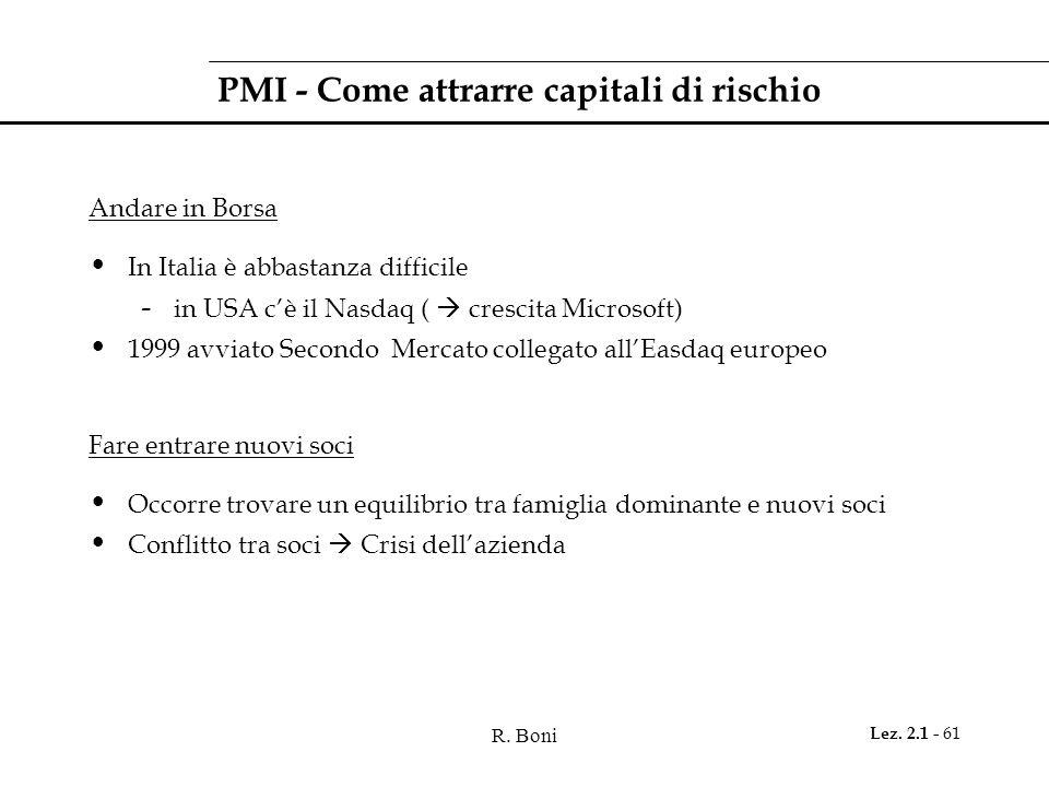 PMI - Come attrarre capitali di rischio