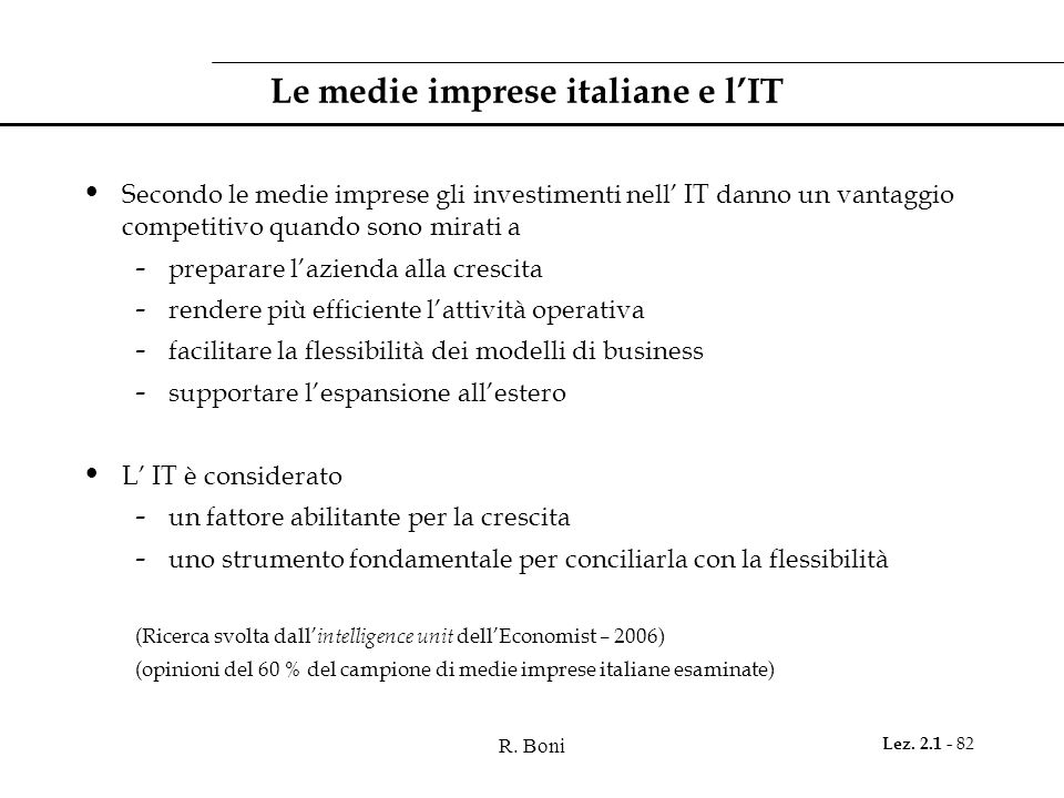 Le medie imprese italiane e l'IT