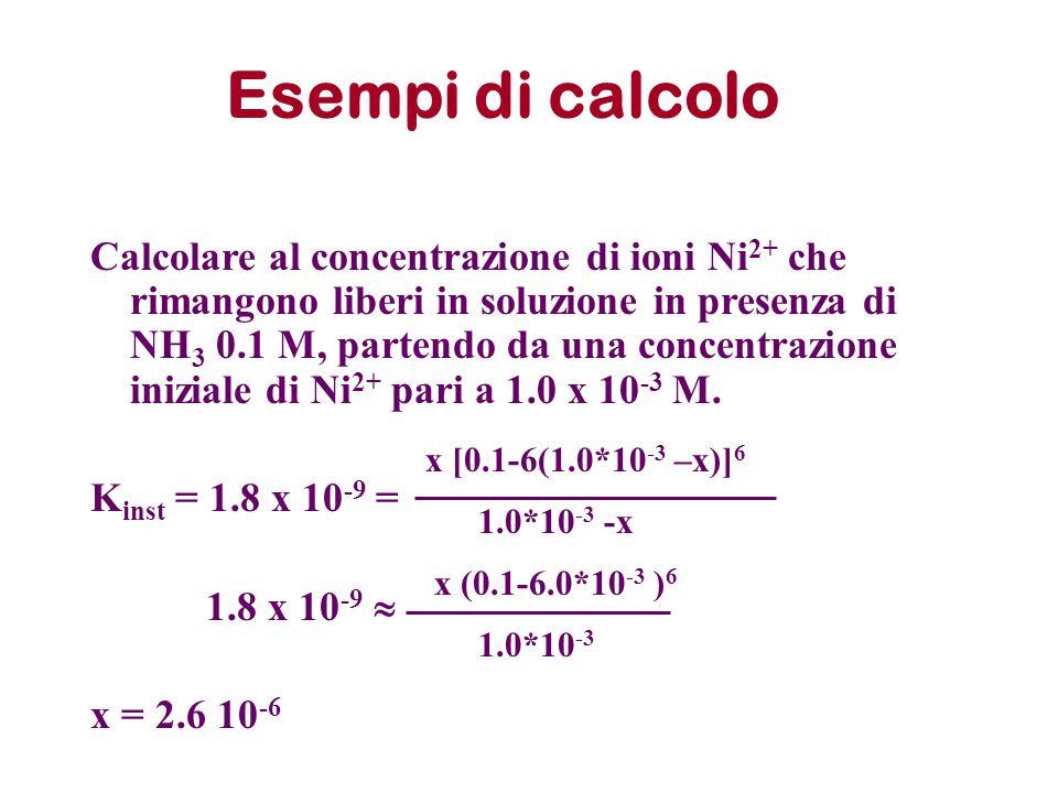 Esempi di calcolo