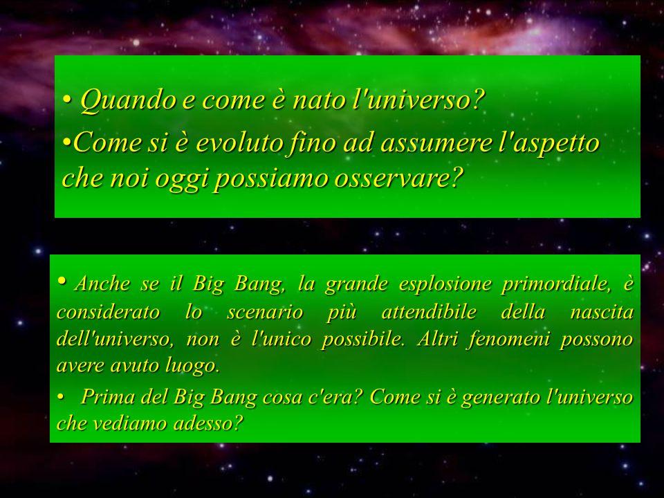Quando e come è nato l universo