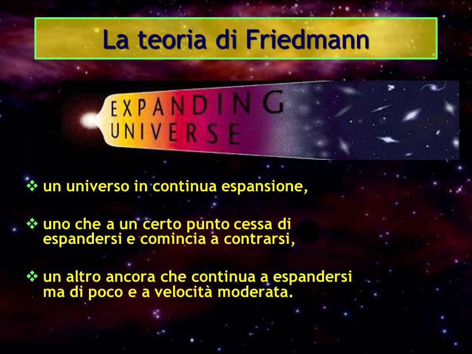 La teoria di Friedmann un universo in continua espansione,