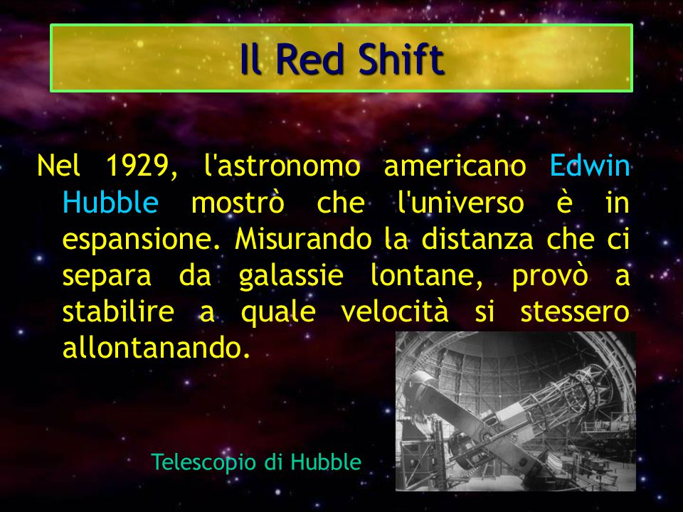 Il Red Shift